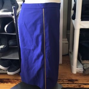 Calvin Klein purple zipper skirt